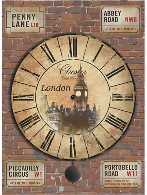 Рисовая бумага для декупажа Часы Лондон Craft Premier формат А4