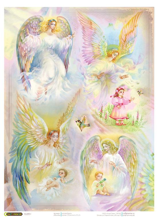 Рисовая бумага для декупажа Ангел хранитель Craft Premier