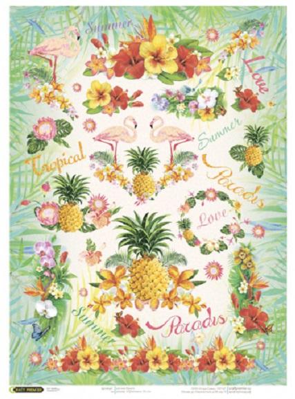 Рисовая бумага для декупажа Тропическое лето Craft Premier формат А4