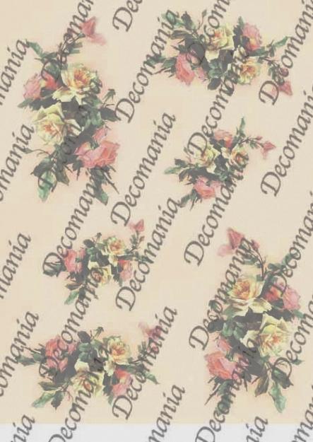 Рисовая бумага для декупажа Decomania 5056 Розы, декупажные рисовые карты
