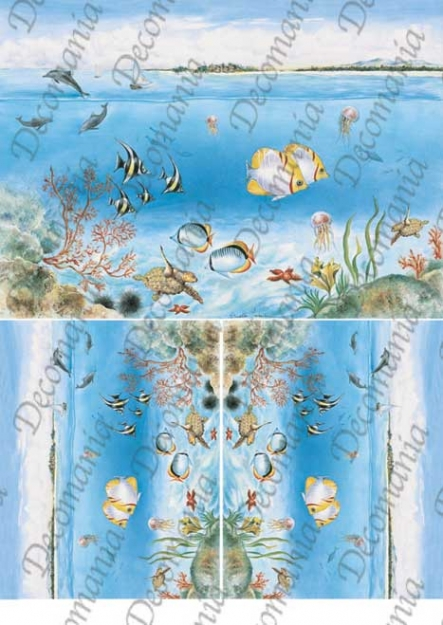 Рисовая бумага для декупажа Decomania 5069 Море, морские животные, декупажные рисовые карты
