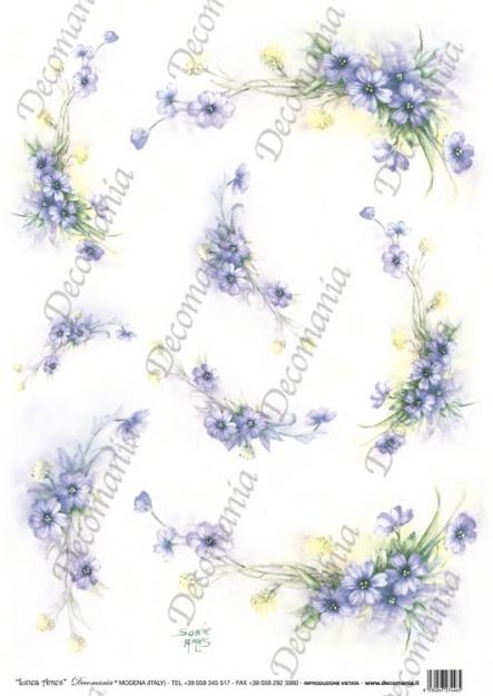 Рисовая бумага для декупажа Decomania Нежные цветы, Sonie Ames, купить