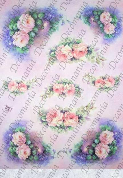 Рисовая бумага для декупажа Decomania Розы, Sonie Ames, купить