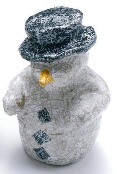 Заготовка из папье-маше Снеговик картона, Decopatch, купить