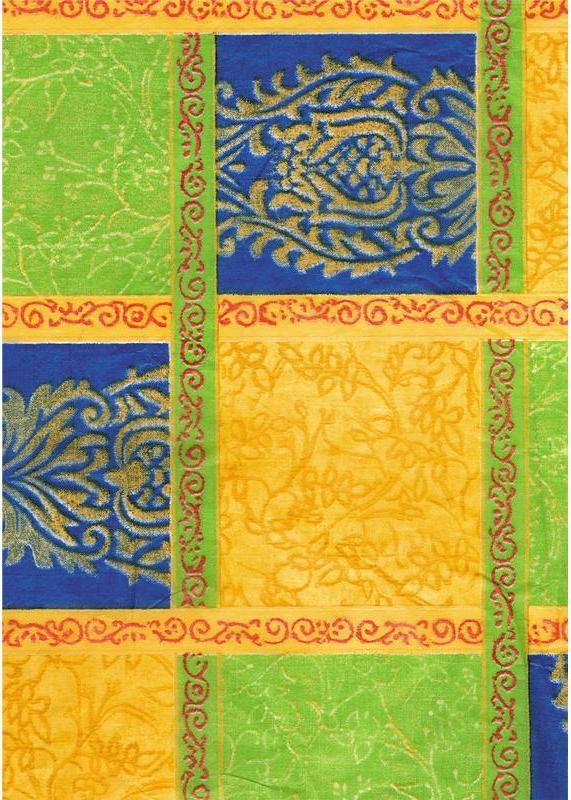 Бумага для декопатча и декупажа, Сине-желтые квадраты Decopatch FDA318