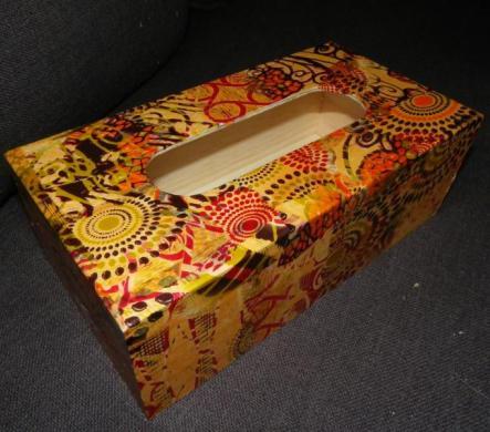 Декопатч бумага купить, орнамент коричнево-желтый