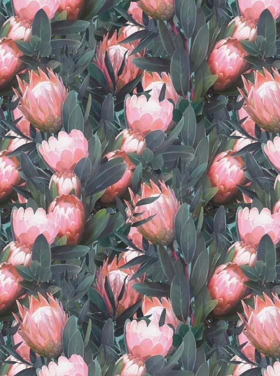 Бумага для декопатча Розовый лотос в листьях Decopatch FDA757
