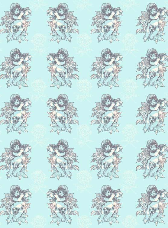 Бумага для декопатча Ангелочки на голубом Decopatch FDA761