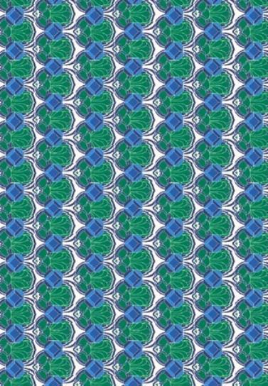 Бумага для декопатча Узор антик зеленый Decopatch FDA769