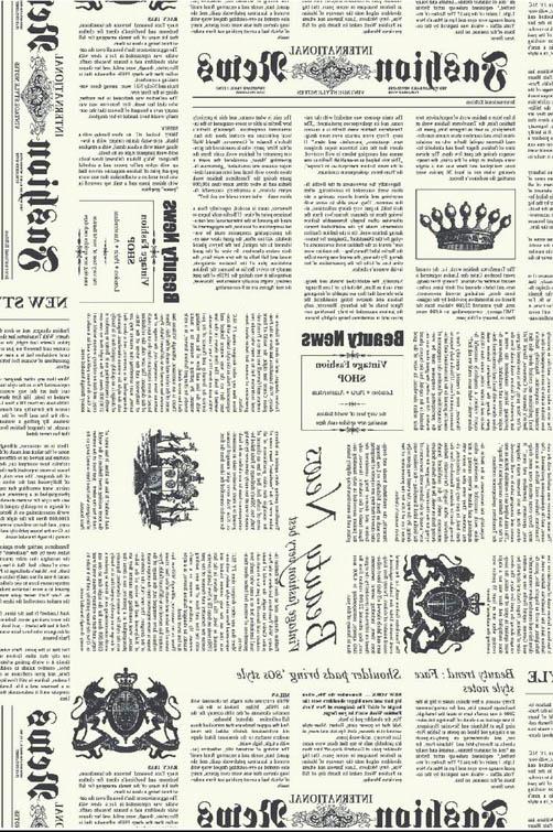 Бумага для декопатча Типографский текст черно-белый Decopatch FDA770