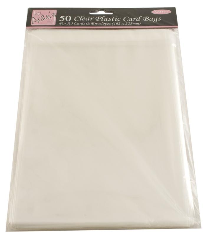 Упаковка для открыток ручной работы, прозрачные пакеты с клеевым клапаном 50 шт.