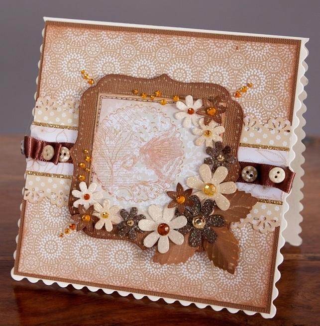 Набор дизайнерской бумаги для скрапбукинга, бежевый цветочный орнамент - магазин АртДекупаж