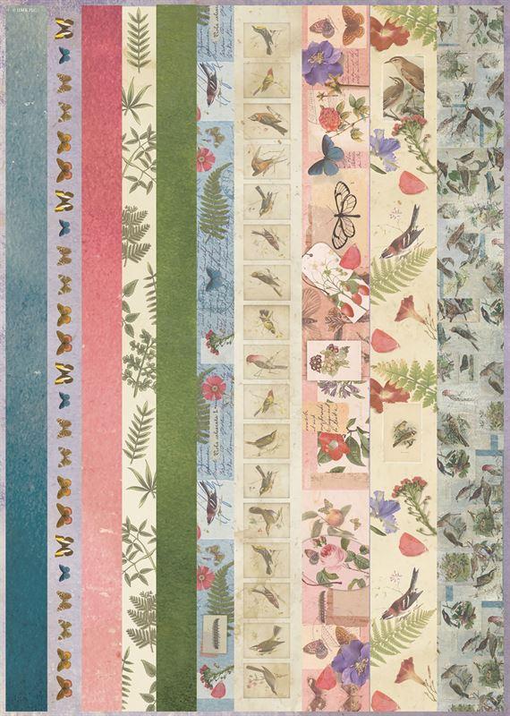 Набор бумаги и высечек для скрапбукига Nature's Gallery А4, АртДекупаж