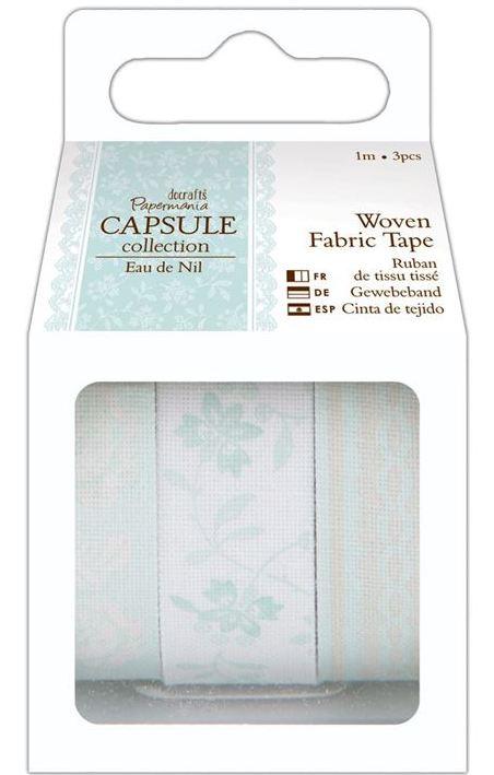 Ленты тканевые с рисунком для скрапбукинга Eau De Nil