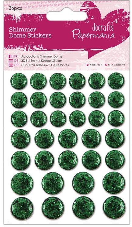 Клеевые сверкающие гладкие стразы для скрапбукинга зеленые кружочки