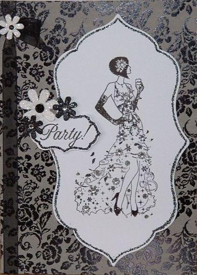 Цветы для скрапбукинга с блестками и стразами Bexley Black