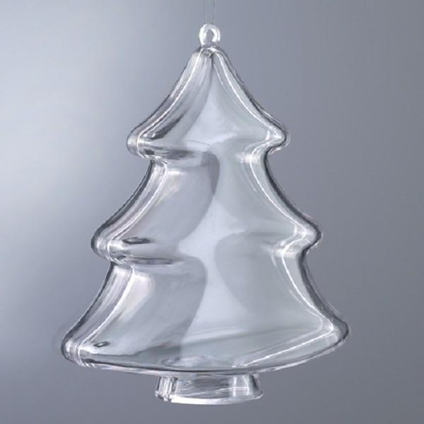 Заготовка новогодняя елка разъемная пластиковая, елочные игрушки для декора