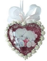 Заготовка сердце пластиковое разъемное 10 см, новогодние елочные украшения, 6 см
