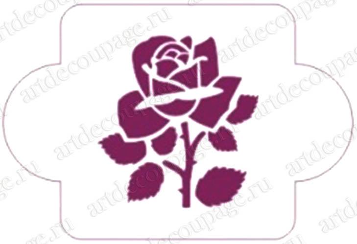 Трафареты для росписи, Роза, Event Design, купить