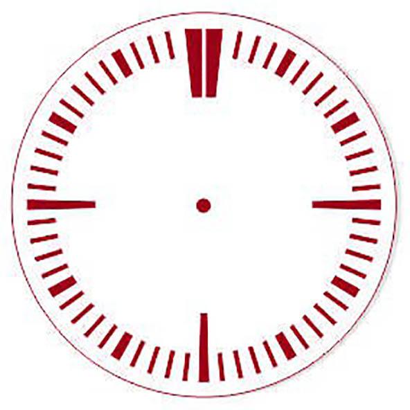 Трафарет циферблат часов без цифр