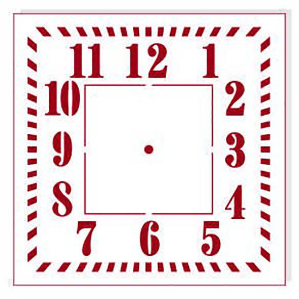 Трафарет циферблат квадратный для часов