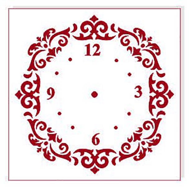 Трафарет для часов циферблат с ажурным узором