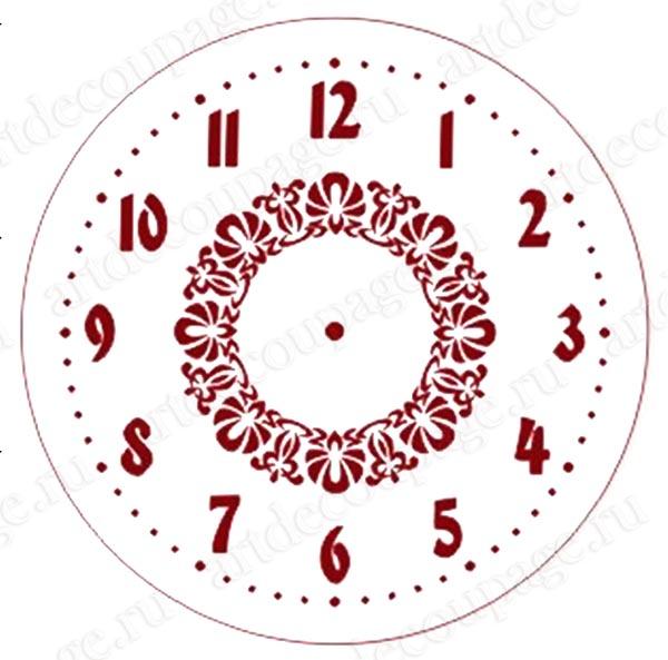 Трафарет часы, циферблат с орнаментом, Event Design, купить