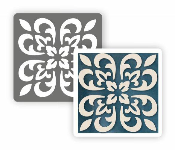 Трафарет для декора Плитка азулежу Event Design
