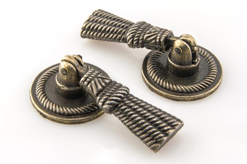 Ручка для шкатулки 25х50 мм, античная бронза