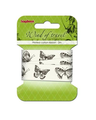 Декоративная лента с рисунком для скрапбукинга Бабочки, купить
