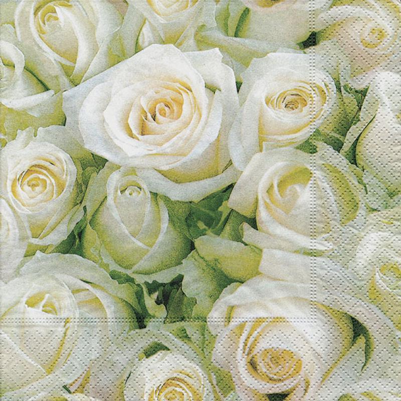 салфетки для декупажа Белые розы