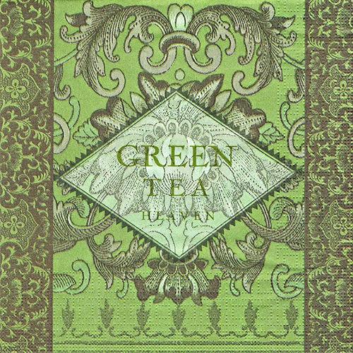 салфетка бумажная для декупажа Зеленый чай