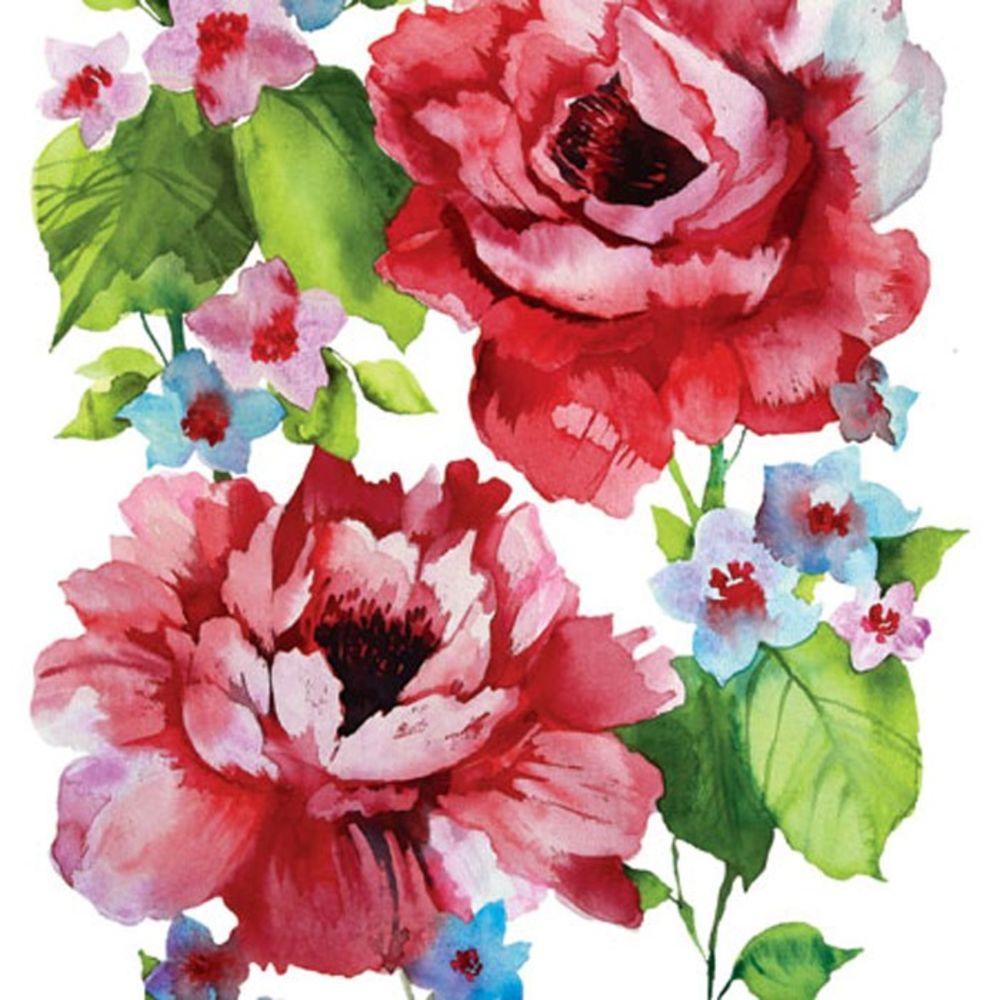 салфетки для декупажа Розы акварельные купить