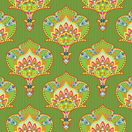 салфетки для декупажа Индийский стиль зеленый, купить
