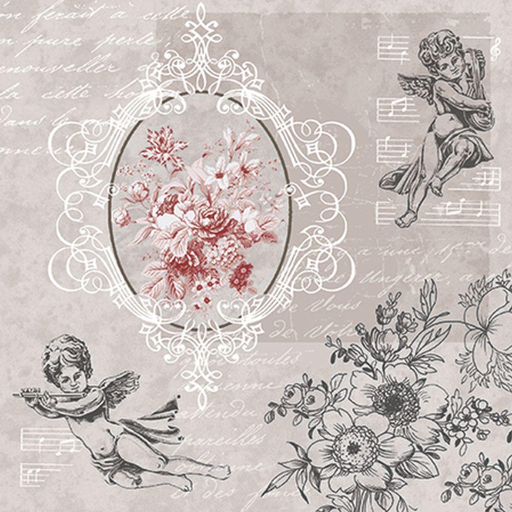 салфетки для декупажа Ангелы среди цветов, купить