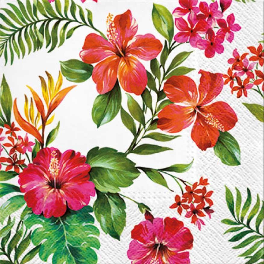 салфетки для декупажа Гавайские цветы, купить
