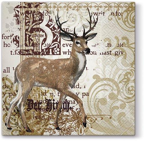 Новогодняя салфетка для декупажа Величественный олень
