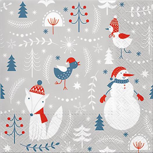 Новогодняя салфетка для декупажа Просто Зима, АртДекупаж