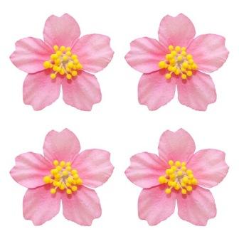 Бумажные цветы плюмерия розовая для скрапбукинга и декора, купить