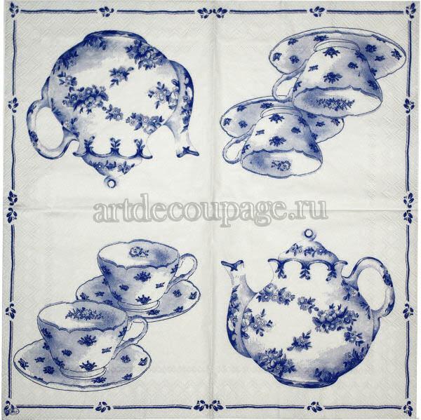 Салфетка для декупажа Чай, чашки