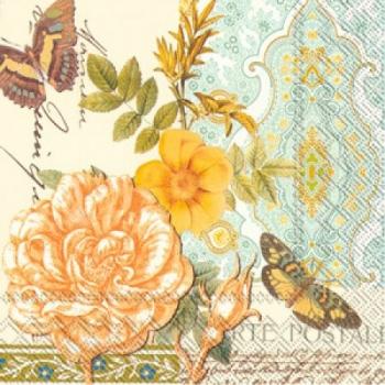 Салфетки для декупажа Птичка, розы, орнамент, бабочки, цветы, купить, Москва