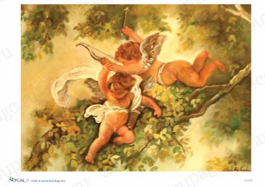 Рисовая бумага для декупажа Амуры ангелочки, Love2Art