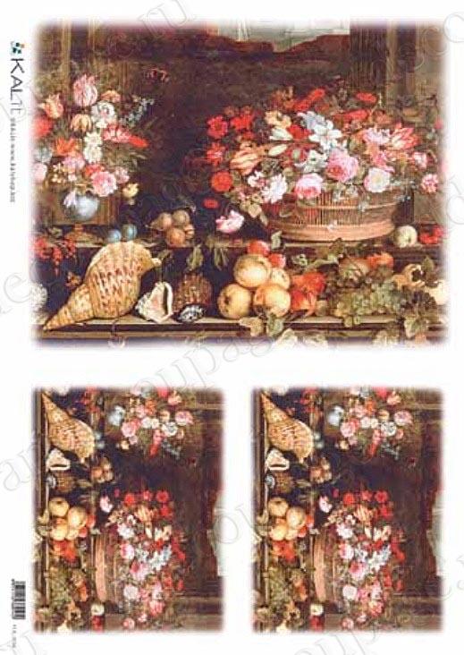 Рисовая бумага для декупажа Натюрморт с ракушками, Love2Art