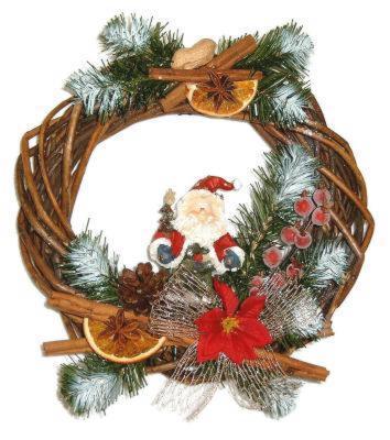 Декоративный венок из прутьев, новогодний венок, заготовка
