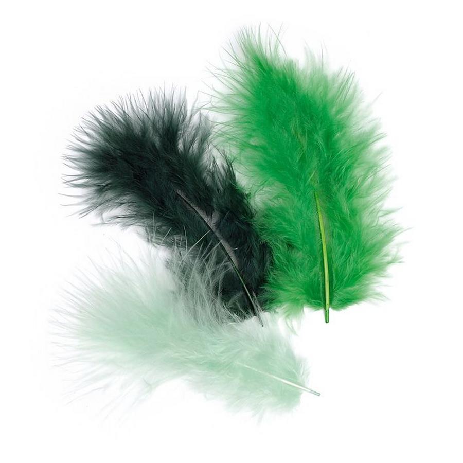 Декоративные перья марабу, набор зееных перьев для декорирования, купить