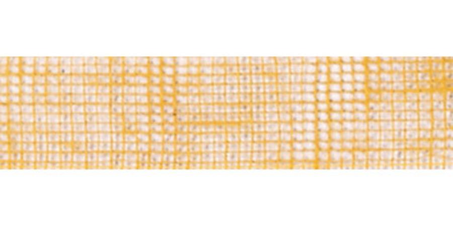 Лента джутовая желтая для флористики и декора, купить