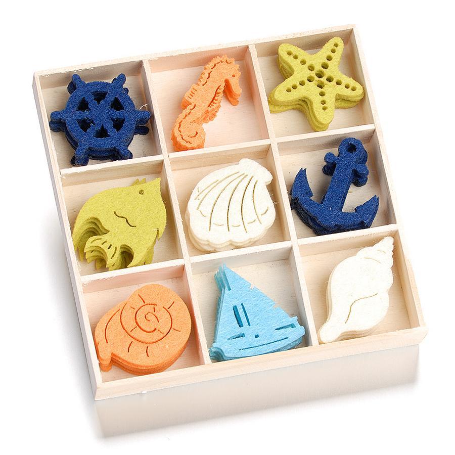 Декоративные элементы для скрапбукинга из войлока морская символика, купить