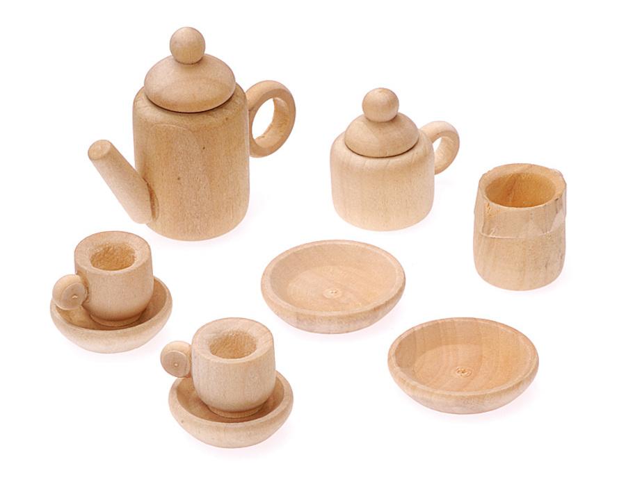 Миниатюрный кофейный сервиз, посуда для кукольных миниатюр, купить - магазин АртДекупаж