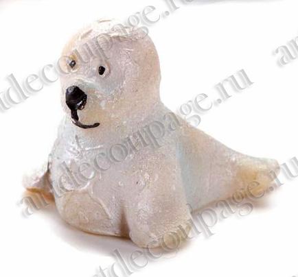 Декоративная фигурка Тюлень, для миниатюрных композиций, клеевое крепление - магазин АртДекупаж
