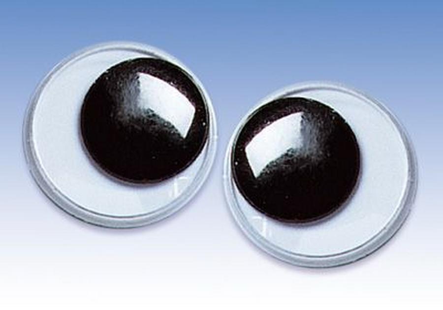Глаза для игрушеккруглые с подвижными зрачками 2 см, купить  - магазин АртДекупаж